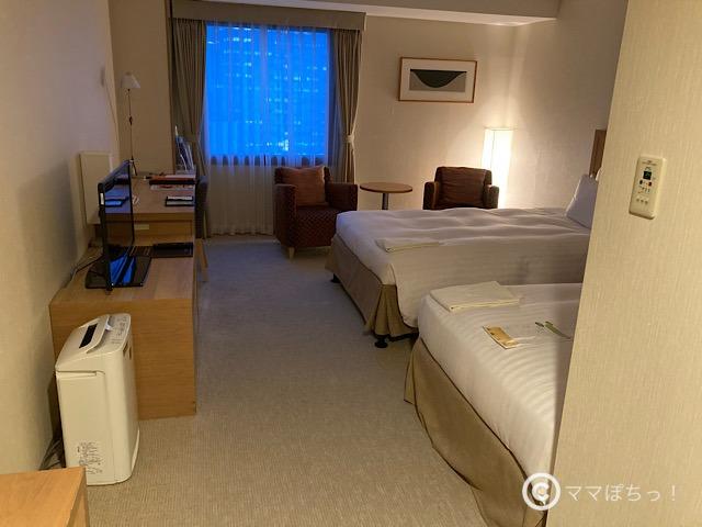 ホテルアソシア静岡のモデレートツインの写真です。