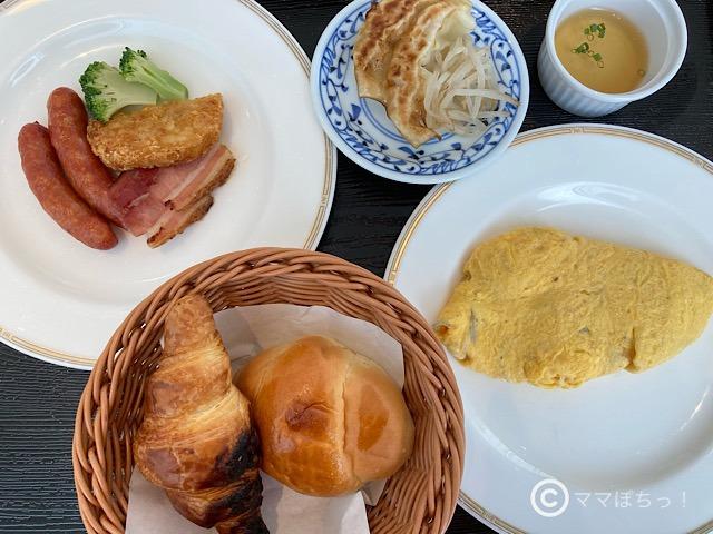 ホテルアソシア静岡の朝食の写真です。