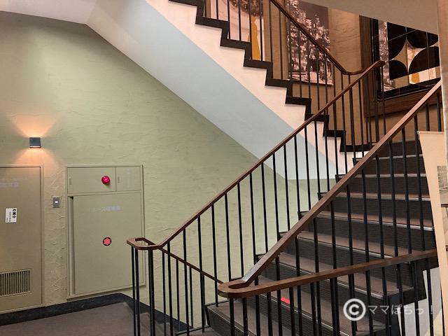銀座スカイラウンジの階段の写真です。