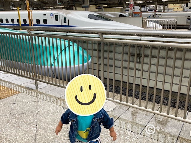東京駅の新幹線ホームで撮った写真です。