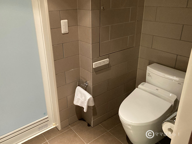 ホテルメトロポリタン丸の内、「エグゼクティブコーナーツイン」のトイレの写真です。
