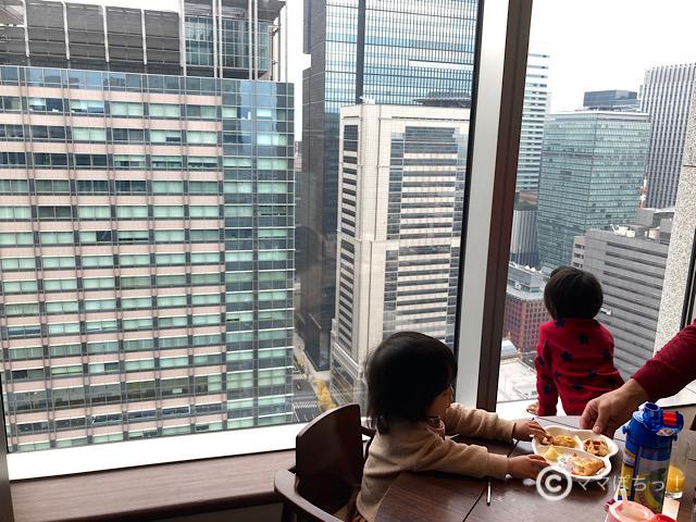 ホテルメトロポリタン丸の内「TENQOO(テンクウ)」からの展望の写真です。