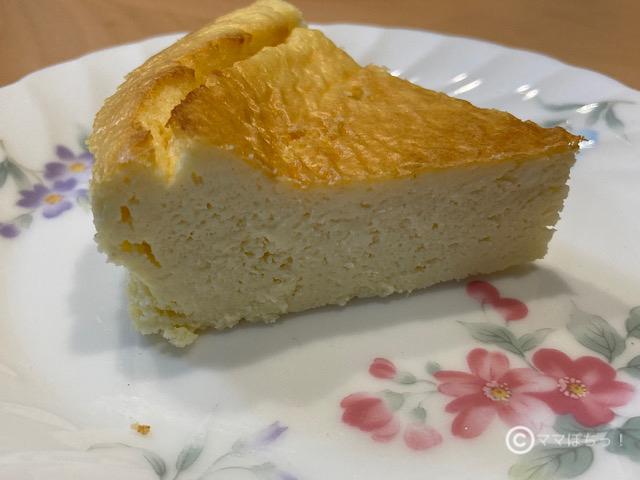 低糖質な「手作りおからパウダーチーズケーキ」の写真です。
