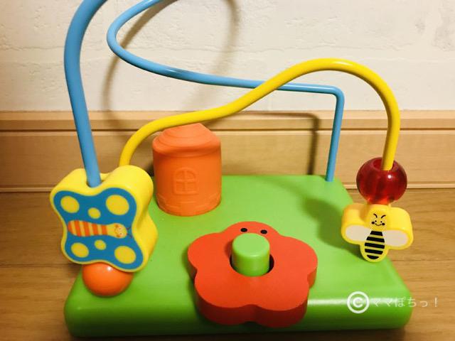 こどもちゃれんじベビー11ヵ月号の「すいすいルーピングコースター」の写真です。