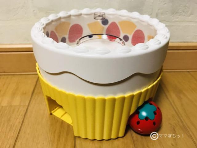 こどもちゃれんじベビー「1歳のおたんじょうび特別号」の「くるくるバースデーケーキ」の写真です。