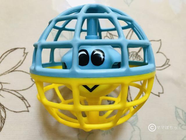 こどもちゃれんじベビー7ヵ月号の「にぎにぎワンダーボール」の写真です。