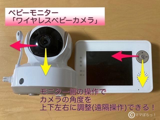 トリビュート「ワイヤレスベビーカメラ」の遠隔操作のイメージ写真です。