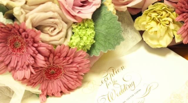 結婚式の招待状の写真です。